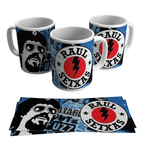 Caneca Raul Seixas Rock In Roll Caricatura Cantor Mpb