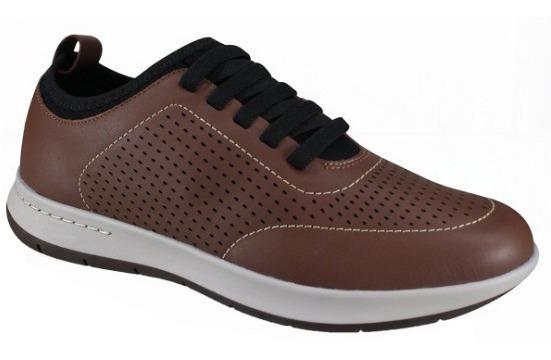 Sapato Sapatênis Masculino Usaflex Aa2905 Em Couro