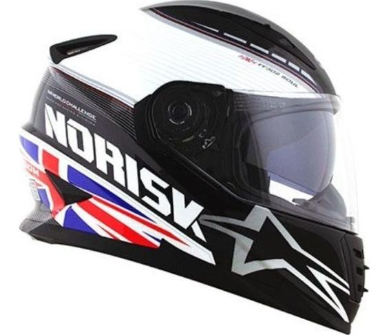 Capacete Norisk Ff302 Grand Prix United Kingd Com Viseira Interna Solar Bandeira Inglaterra
