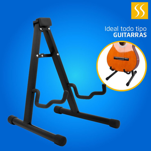 Soporte Pedestal Tripode Guitarra, Bajo Metalico Compacto