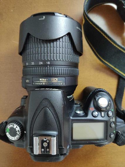 Câmera Nikon D-90 Usada + Lente 18-105 Mm - Só Para Retirar!