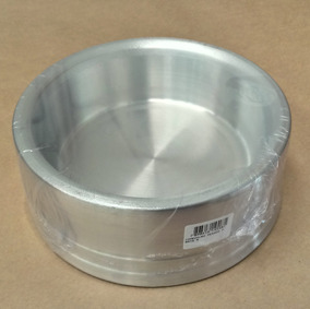 Comedouro Alumínio Pesado Para Cachorros 1 Un Grande Prata