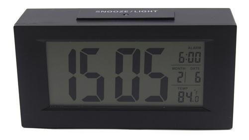 Imagem 1 de 6 de Relógio De Mesa Digital C/ Despertador Sensor Noturno