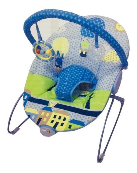 Bouncer Silla Mecedora Para Bebe Prinsel Con Vibración Azul Msi