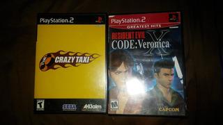 Crazy Taxi Playstation 2 Y Residen Evil Code Veronica Ps2