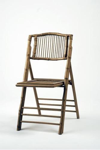 Imagen 1 de 2 de Silla Bambú Usada Plegadiza