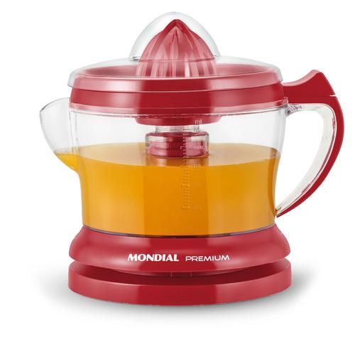 Mondial - Exprimidor Premium Rojo Diseño Moderno E23 Bigsale