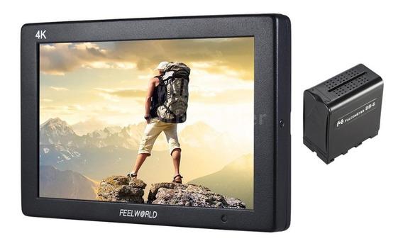 Monitor Feelworld T7 4k + Case Np970 Hdmi Aluminum