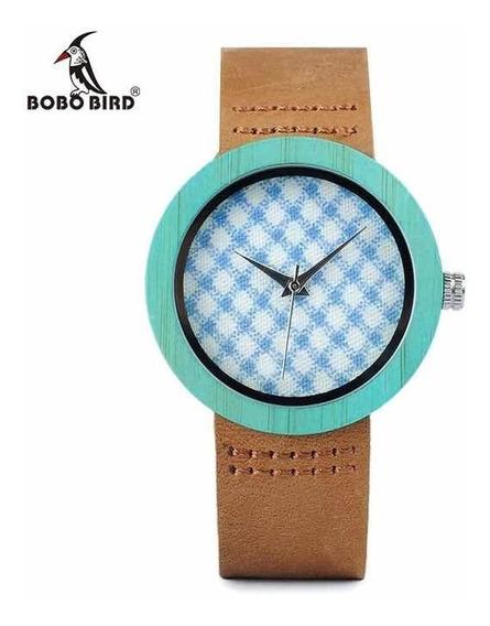 Relógio Bobo Bird Madeira De Bambu