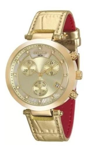 Relógio De Pulso Feminino Seculus 20450lpsvdr4 Cronógrafo