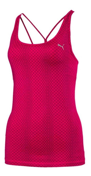 Musculosa Puma Mujer All Eyes On Me Tank Top Dry Cell Fucsia