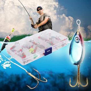 Kit 30 Iscas Artificiais Spinner Bass Colher Traira Tilápia