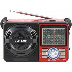 Caixa Som Portátil Retrô Rádio Am-fm Lelong Le-616 Vermelha