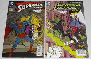 Hq Superman 29 + Lanterna Verde 29 Capas Variantes Batman 66