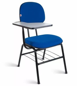 Cadeira Universitária Secretária C/ Porta Livros E Prancheta