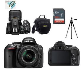 Nikon D5300 Com 18-55mm Vr Ii + Bolsa+tripé+64gb C10+ Nota