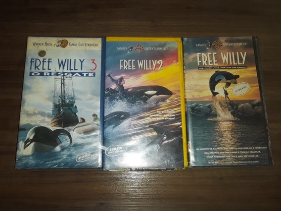 Vhs Free Willy 1 2 E 3