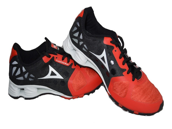 Tenis Pirma Con Amortiguador 511 Negro Rojo