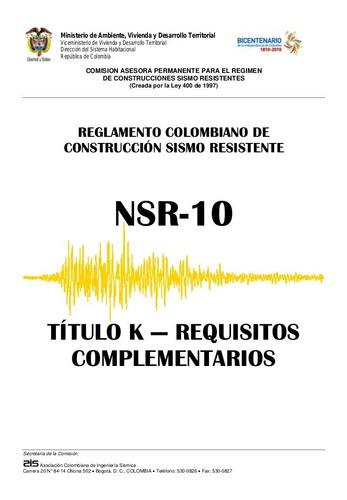 Imagen 1 de 1 de Título K De La Nsr-10 En Físico
