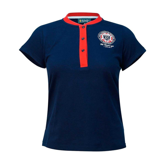 Playera Con Botones Polo Club