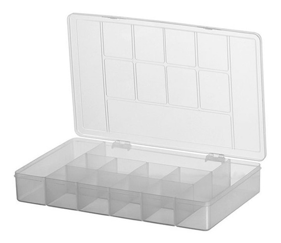 Caixa Organizadora Multiuso 11 Divisórias Plastico Bijuteria
