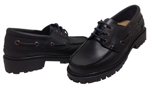 Zapato Leñador Cuero Plantilla Anatomica C/arco Gaby 245 Ng