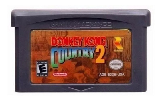 Donkey Kong Country 2 Dk2 Salvando Game Boy Advance Gba