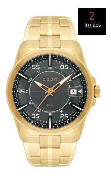 Relógio Masculino Orient Dourado Calendário Mgss1142