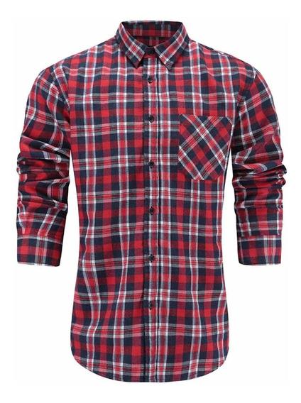 Camisa Franela Talla L Hombre Emiqude