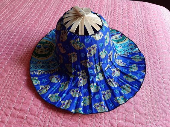 Sombrero Abanico 2 En 1 Tailandes De Elefantes