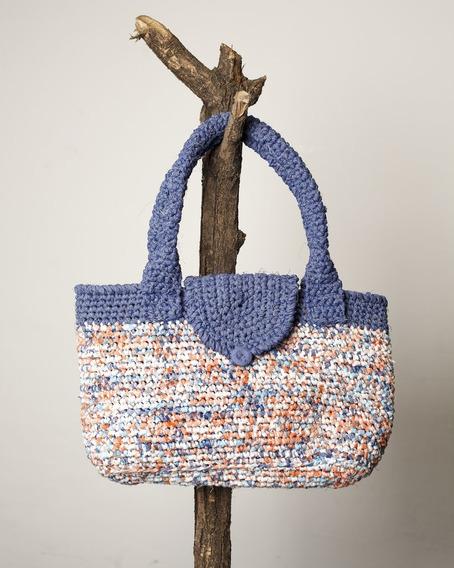Cartera Tejida Al Crochet Alamo