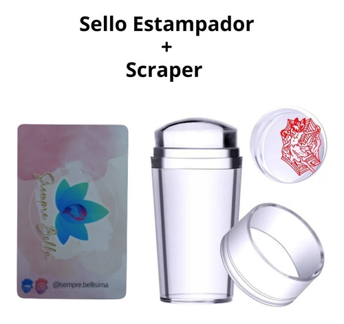 Sello Estampador + Scraper Stamping