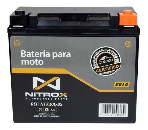 Imagen 1 de 2 de Batería Nitrox  Moto Mxu500