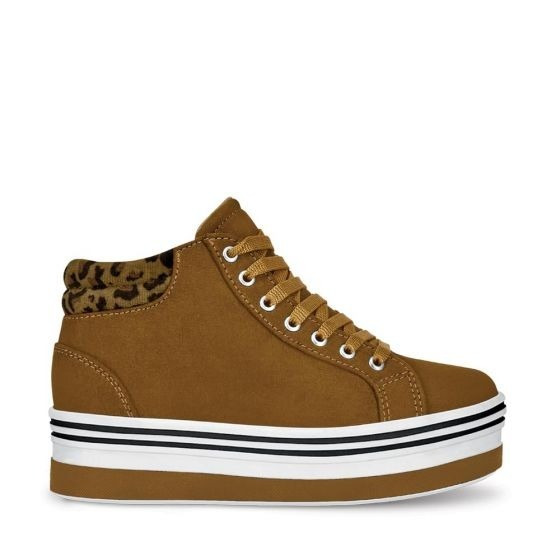 Tenis Casual Tipo Bota Niña Urban Shoes Camel 828934 Bo19 E