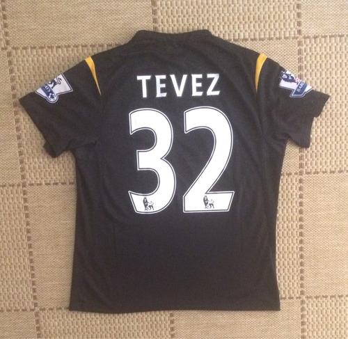 Camisa Original Manchester City 2009/2010 Away #32 Tevez
