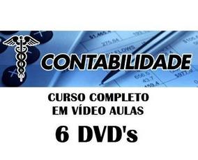 Curso Completo De Contabilidade Em Vídeo Aulas Em 6 Dvds T26
