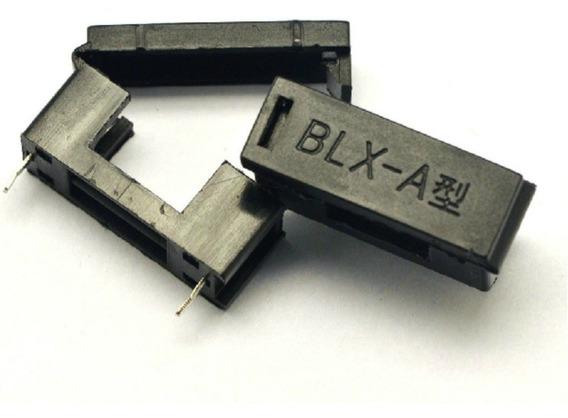 5 X Porta Fusível Agc Blx-a Preto 5 X 20mm - Frete R$12,00