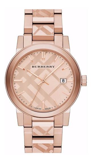 Reloj Burberry The City Swiss Acero Rosado Mujer Bu9039