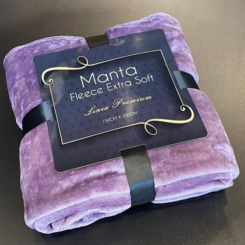 Imagen 1 de 3 de Manta Fleece Extra Soft Violeta 100% Poliéster