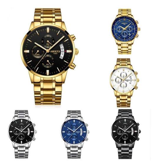 Relógio Nibosi Todo Funcional Na Caixa Original - Promoção