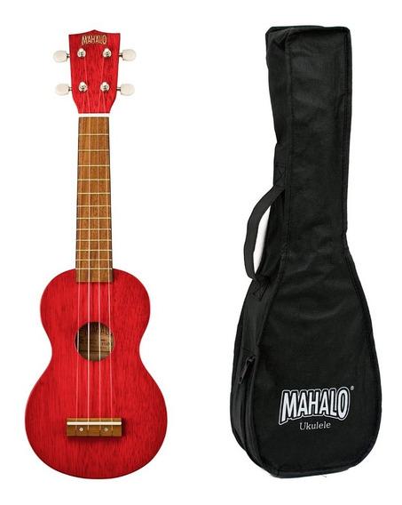 Ukelele Soprano Mahalo Mk1 Series Con Funda Original Colores Cuerdas Nylon Madera Sengon Diapason Mahogany - En Cuotas