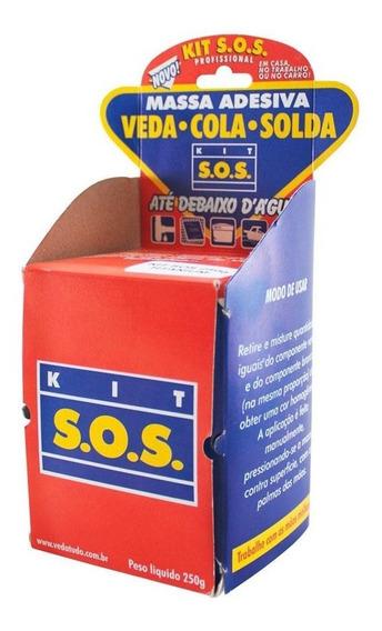 Kit S.o.s. Massa Adesiva Normal Azul 250g Vedatudo