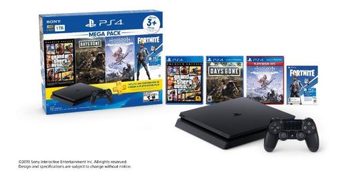 Sony Playstation 4 Slim 1tb Mega Pack 6 Envío Full