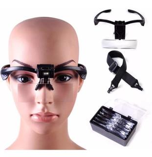 Lupa Lentes Goggle Luz Led 5aumentos Cejas Blading Celular