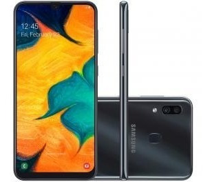 Smartphone Samsung Galaxy A30 64gb Preto 4g - 4gb Ram 6,4