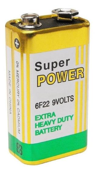 1 Bateria 9 Volts Super Power G6f22