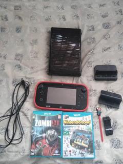 Consola Wii. U Con Dos Videojuegos Accesorios