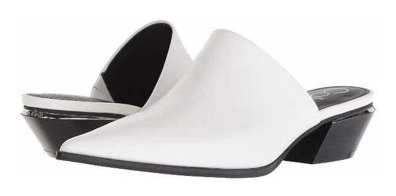 Zapatos Mulas Blancos Calvin Klein