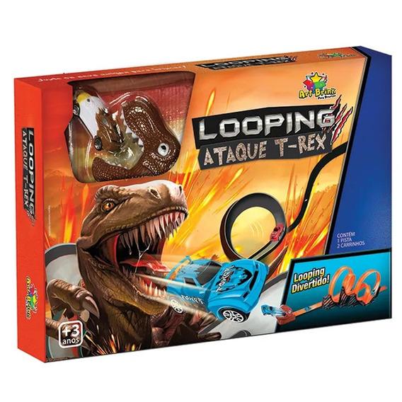 Autorama Looping Dinossauro T-rex 19 Peças Art Brink