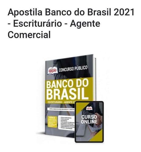Apostila Banco Do Brasil 2021, Editora Opção